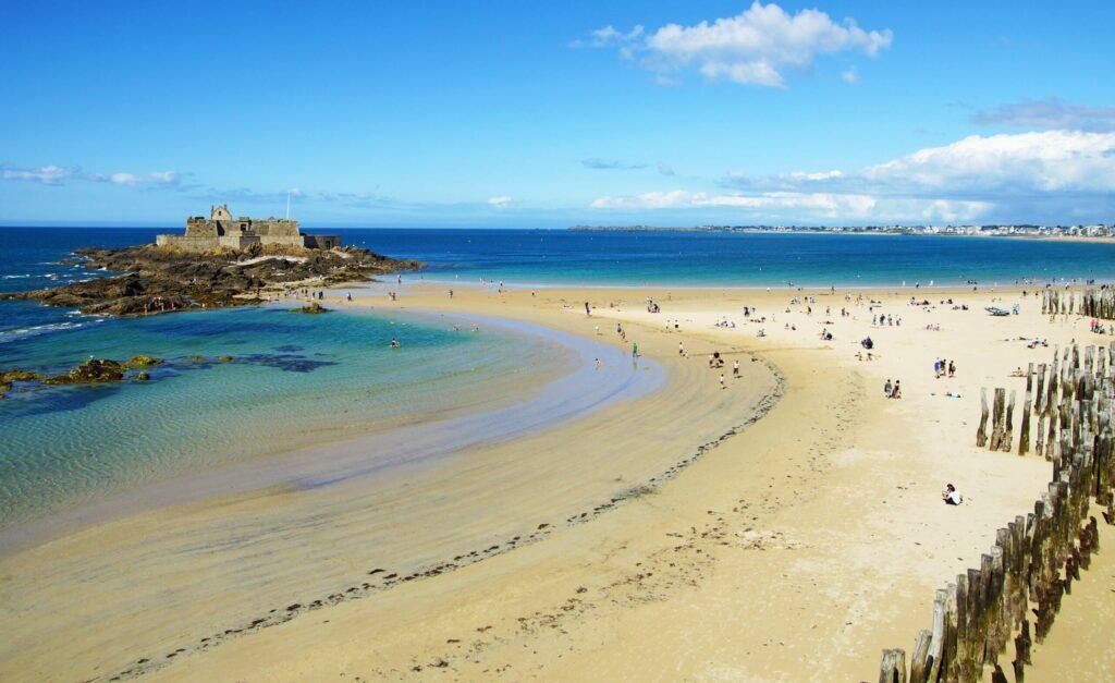 plage de l'éventail à Saint-Malo