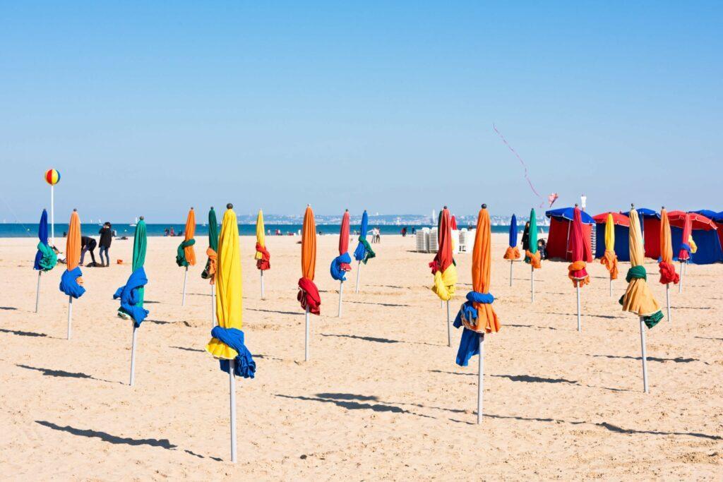 plage Deauville en Normandie