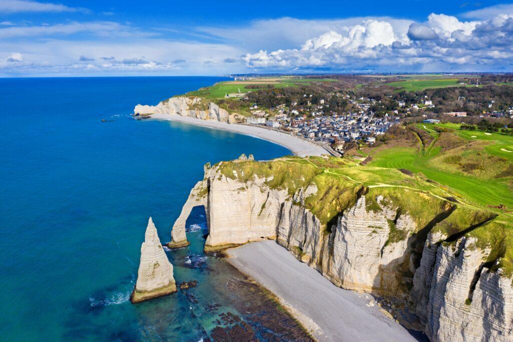plage Étretat en Normandie