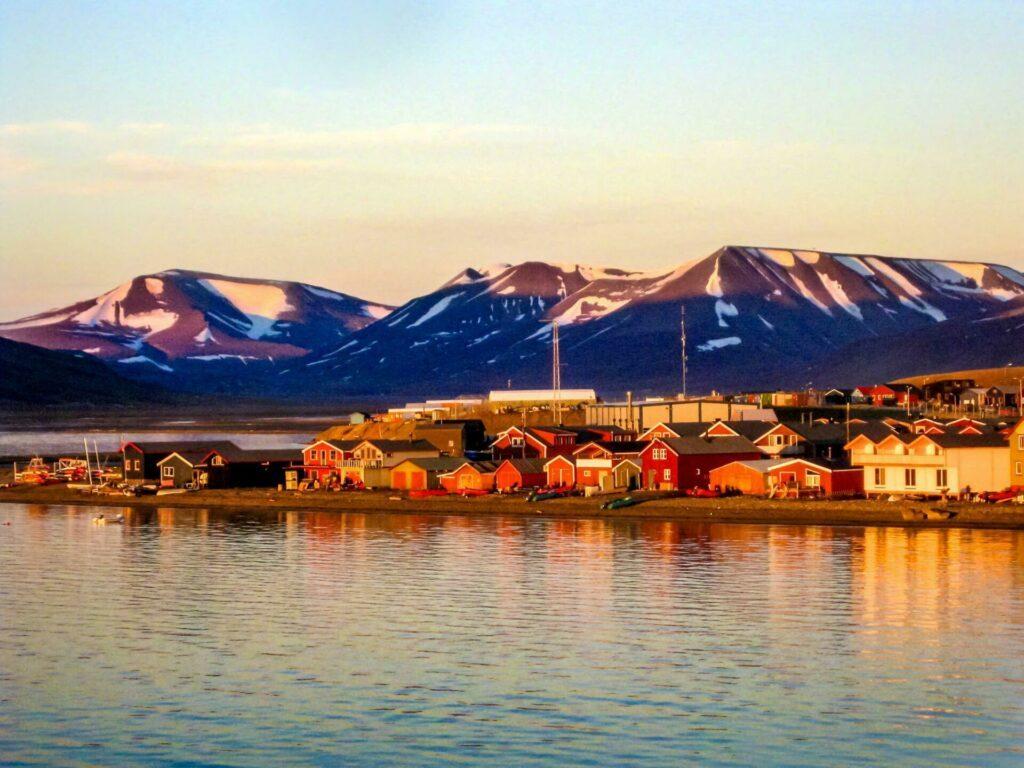 Coucher de soleil sur Svalbard