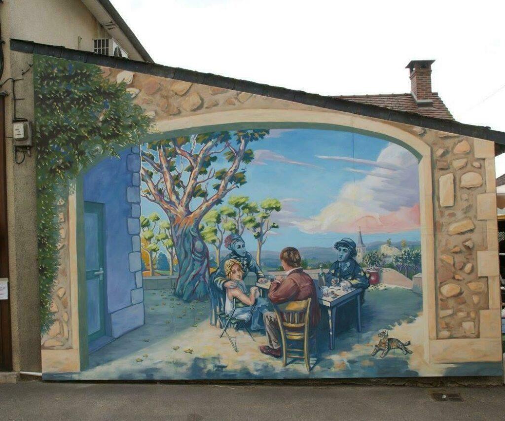 le circuit des fresque à Moulins-Engilbert