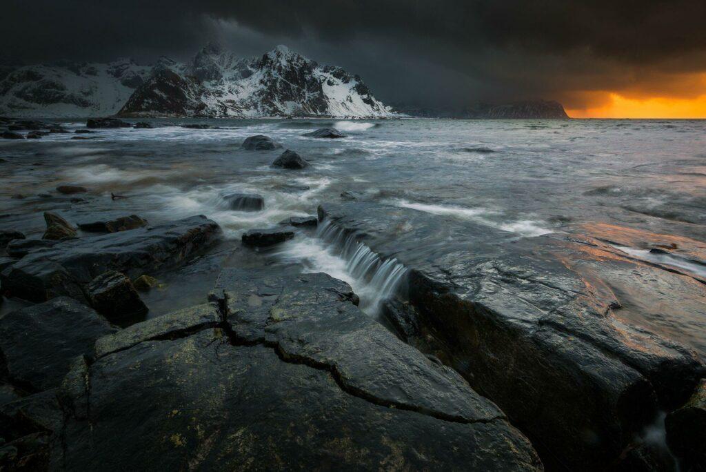 le climat des Lofoten en hiver