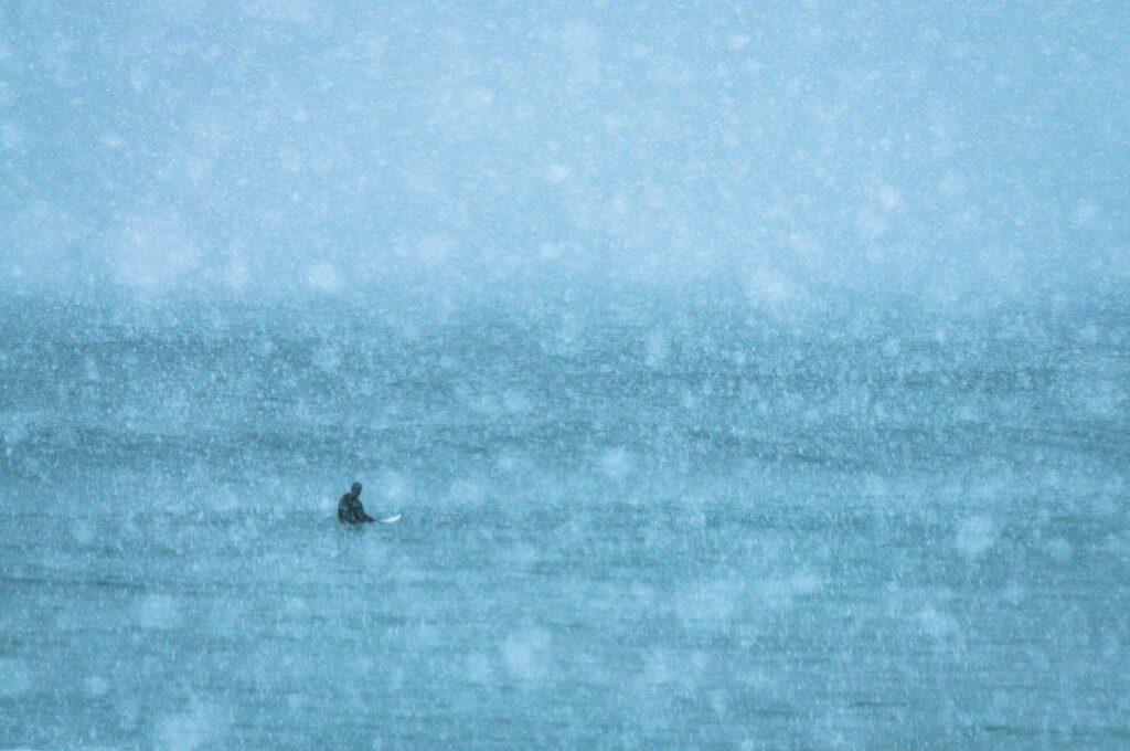 Surfer sous la neige