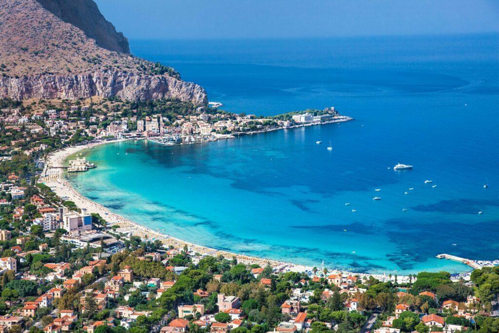 Mondello plages de Sicile