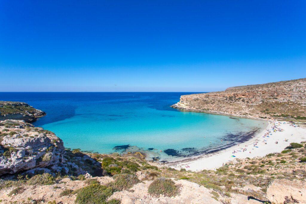 Plage des Lapins à Lampedusa