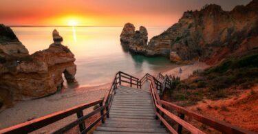 Ponta da Piedade coucher de soleil