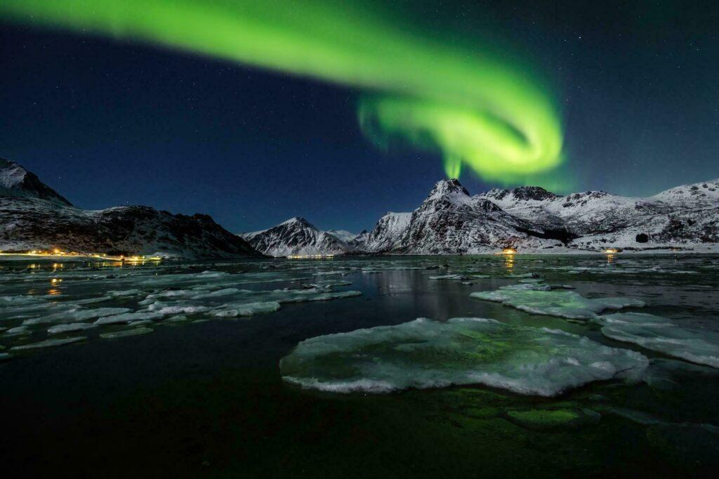 Photographie d'aurores boréales dans les Lofoten