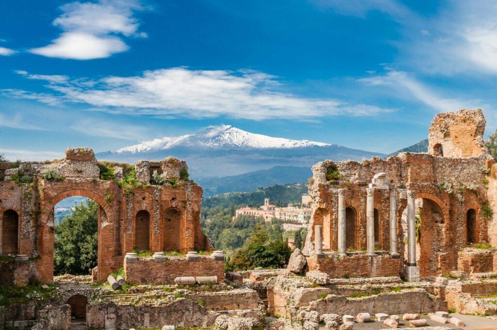 Taormina et l'Etna en Sicile