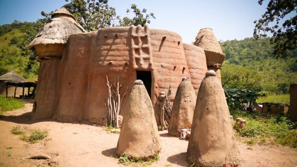 Village traditionnel dans la région de Kara au Togo