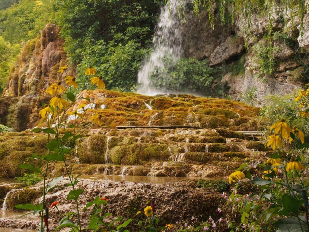 Jardin des Fontaines Pétrifiantes dans le Vercors