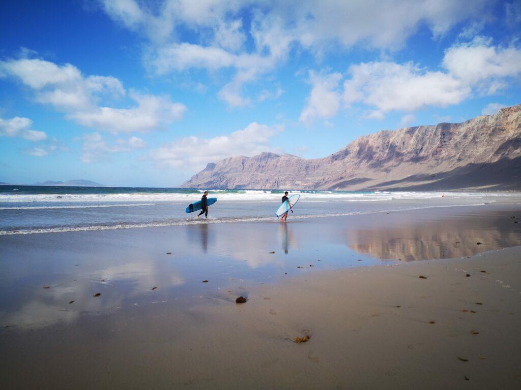 Playa de Famara à faire à Lanzarote