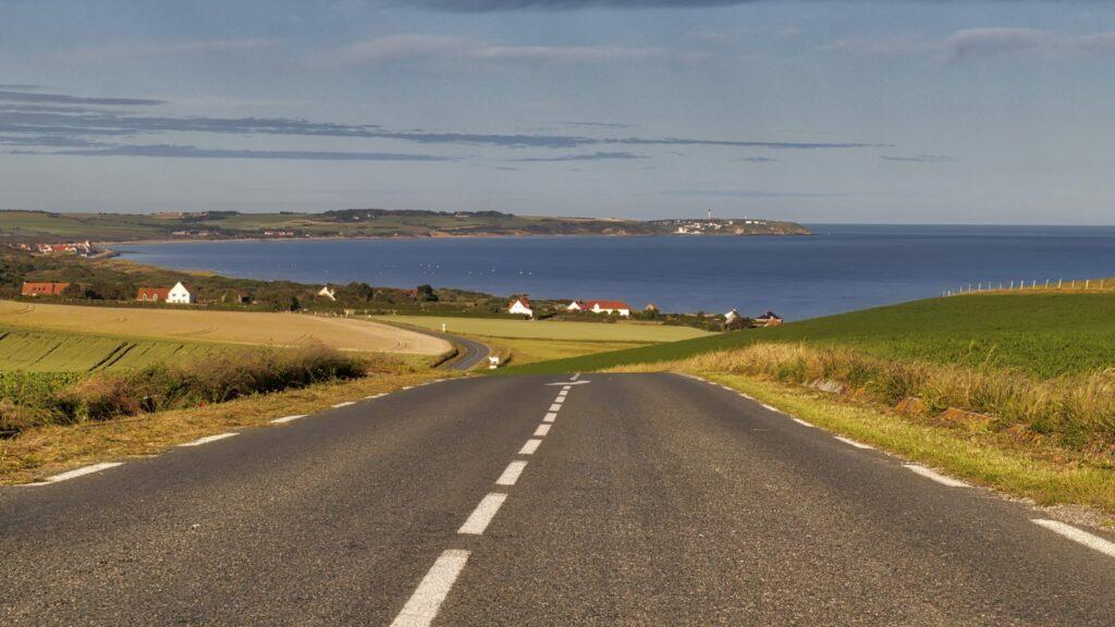 route Côte d'Opale à moto