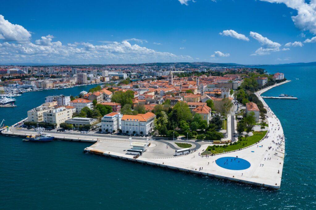 Vue aérienne de Zadar en Croatie