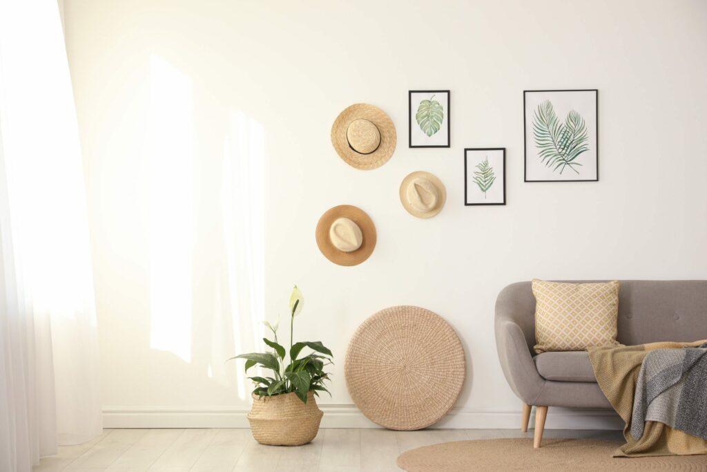 Décorer son mur avec des chapeaux