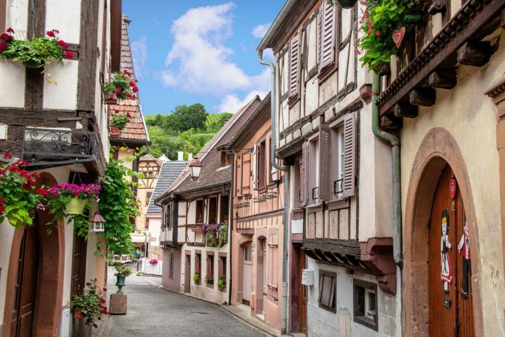 Ribeauvillé et ses maisons à colombages villages d'Alsace