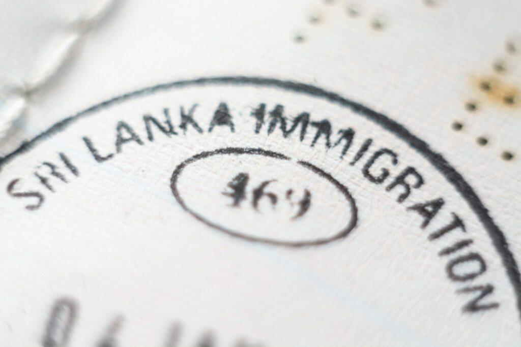 visa pour le Sri Lanka avant de voyager