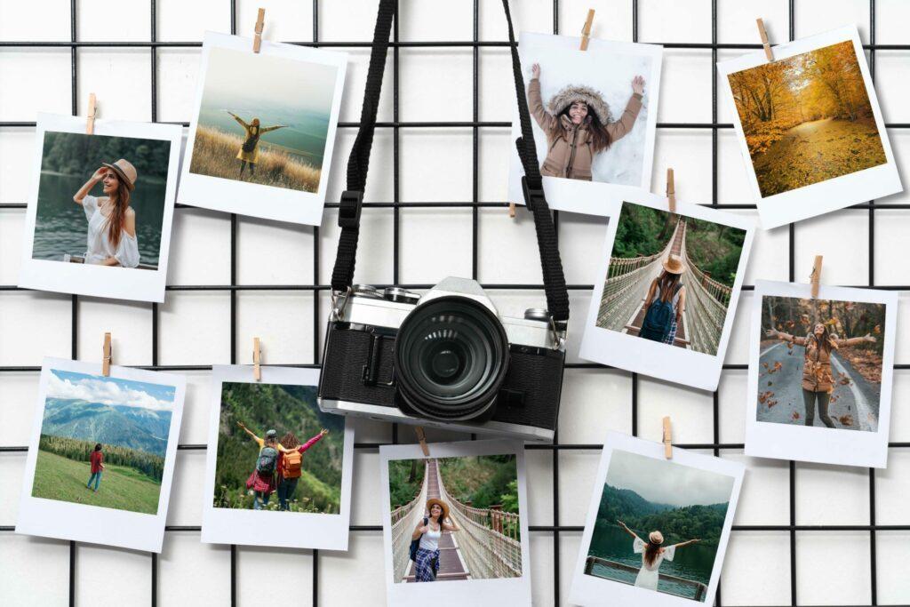 Collage photo sur une grille