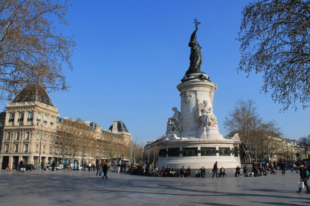La place de la République à Paris