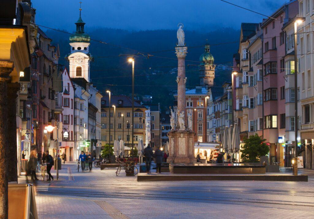 La principale avenue à faire à Innsbruck