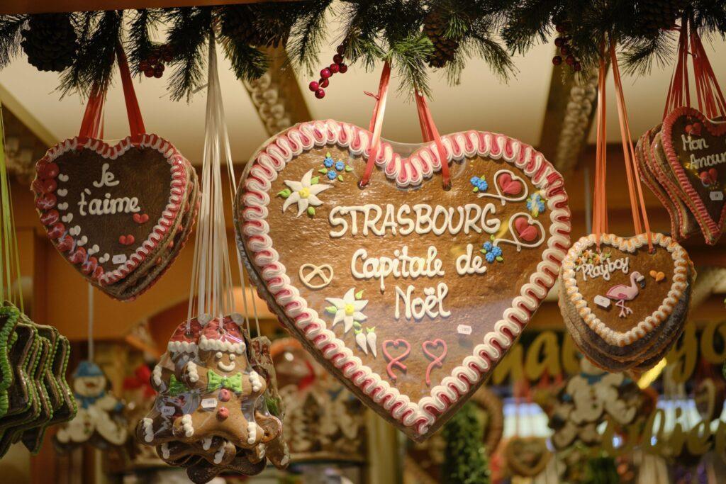 Le pain d'épices de noël au marché de Strasbourg