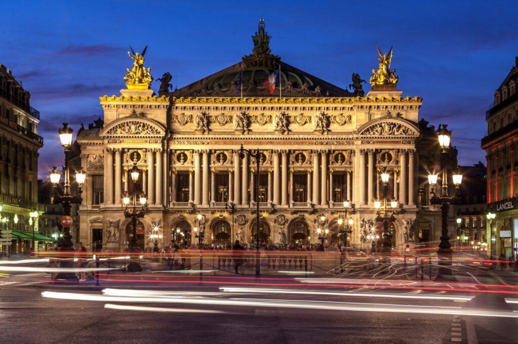 L'Opéra Garnier le soir