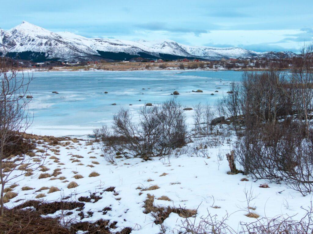Paysage d'hiver sur les îles de Vesteralen