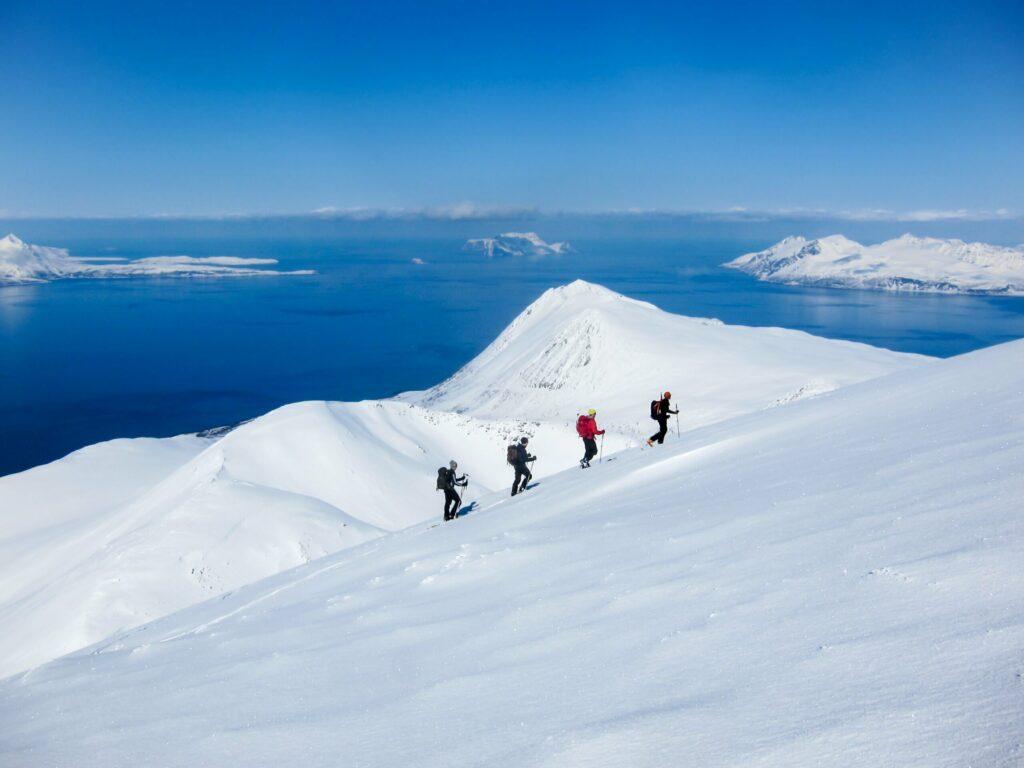 Skier à Lyngen