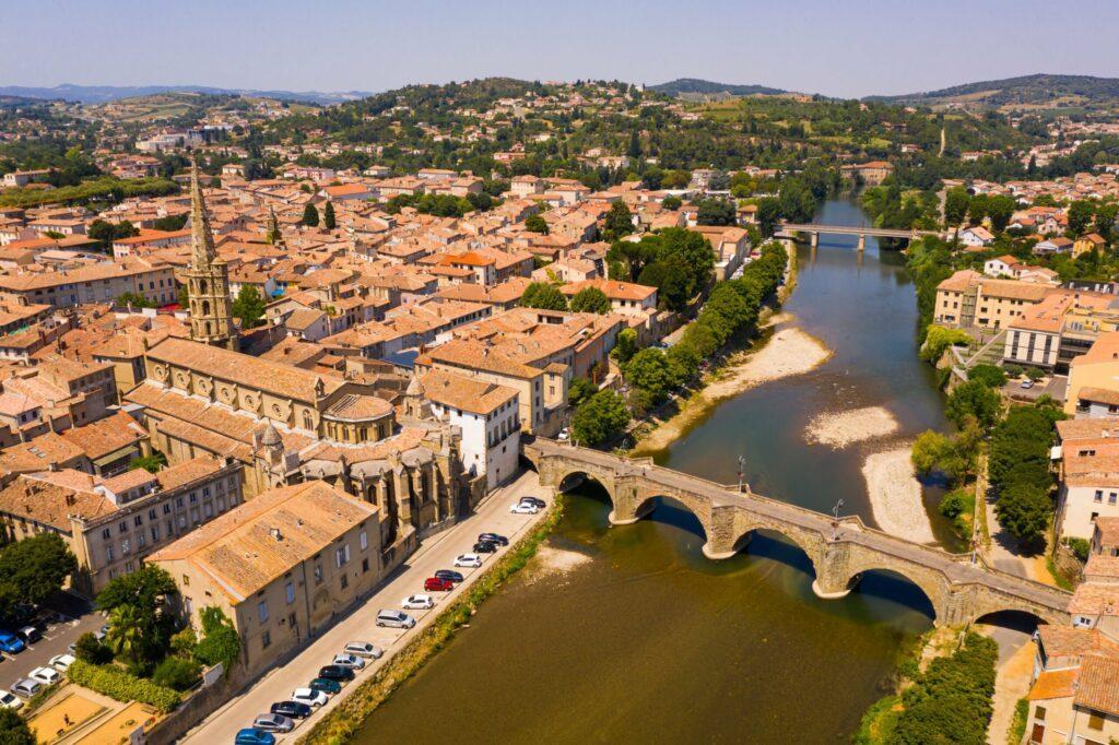 Ville de Limoux autour de Carcassonne