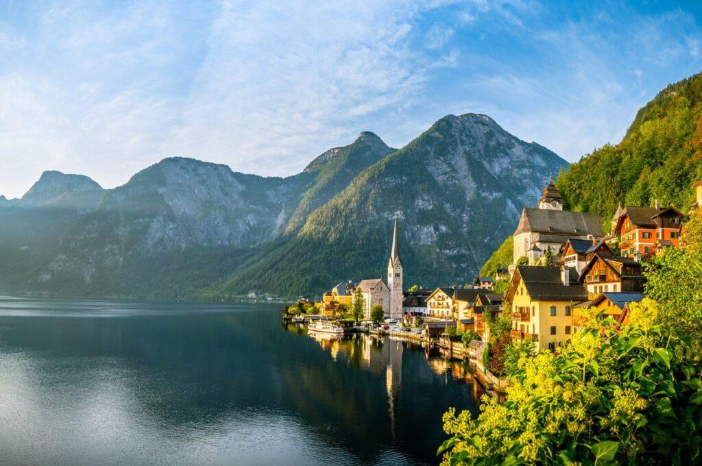 Hallstatt en Autriche l'été