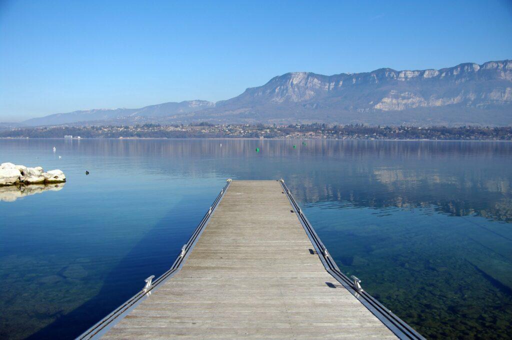 Le lac du Bourget en France