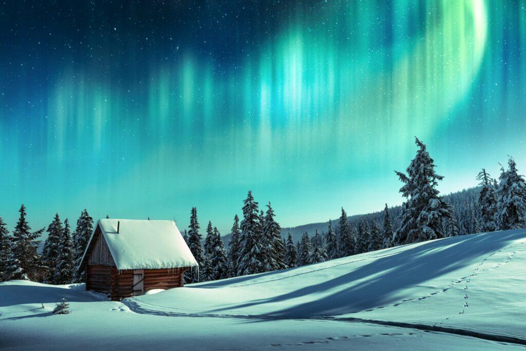 Les aurores boréales en Finlande