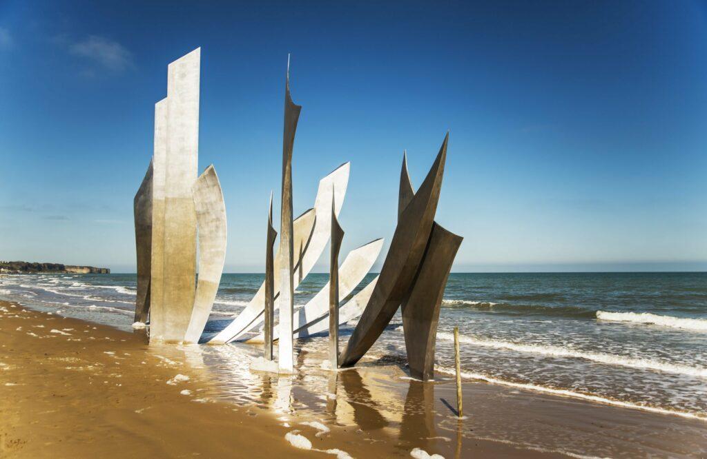 Omaha Beach en Normandie