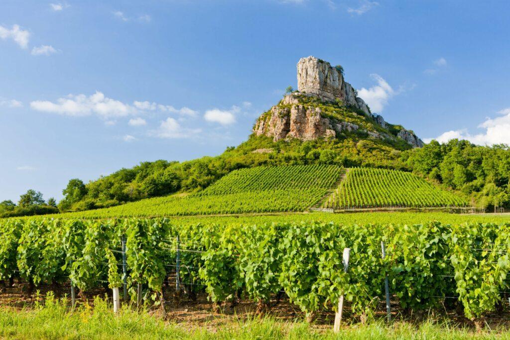 La Roche de Solutré en Bourgogne
