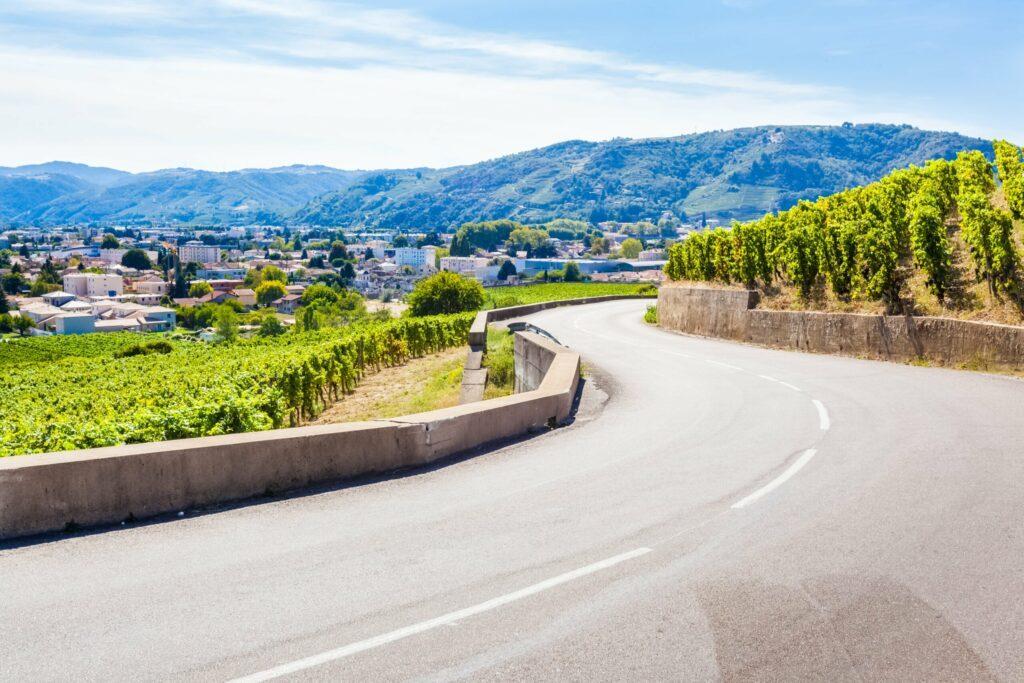 La route des vins à Tain l'Hermitage
