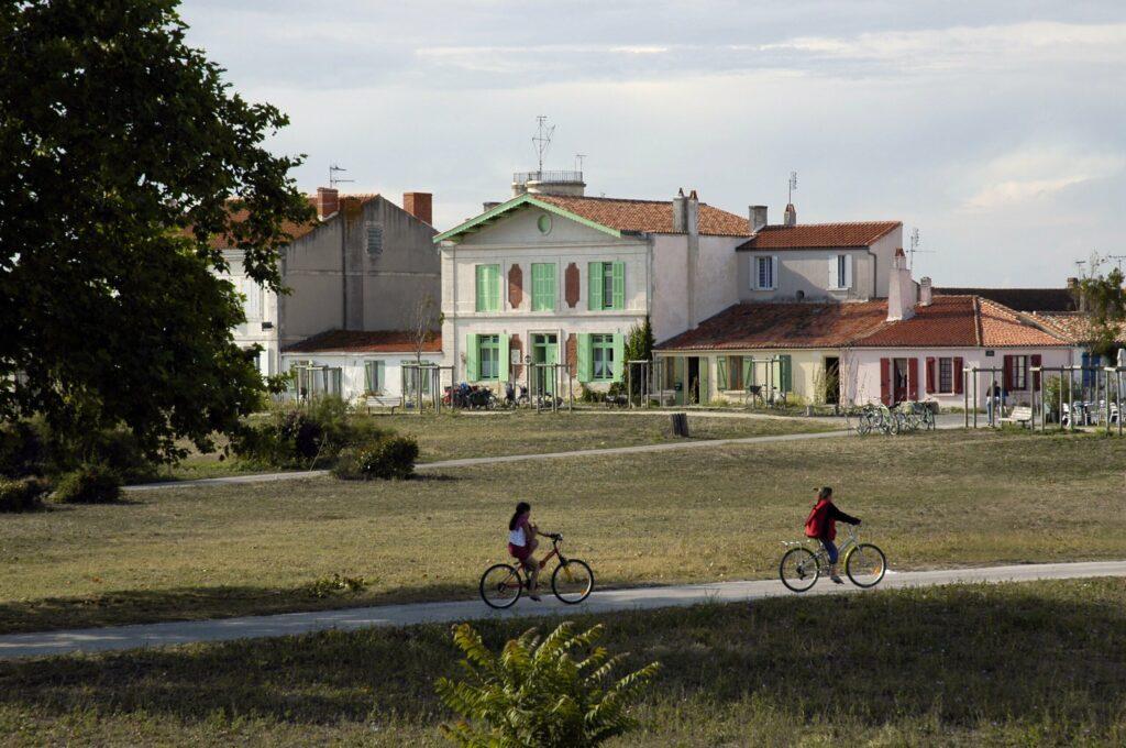 Le vélo, seul moyen de locomotion sur l'île d'Aix