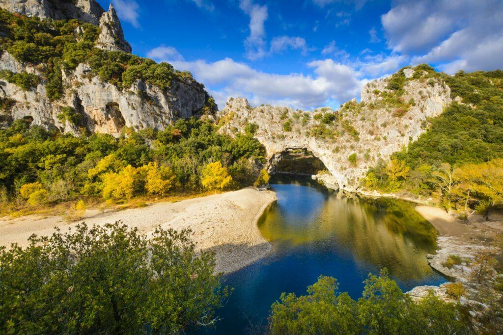 Les gorges de l'Ardèche en France