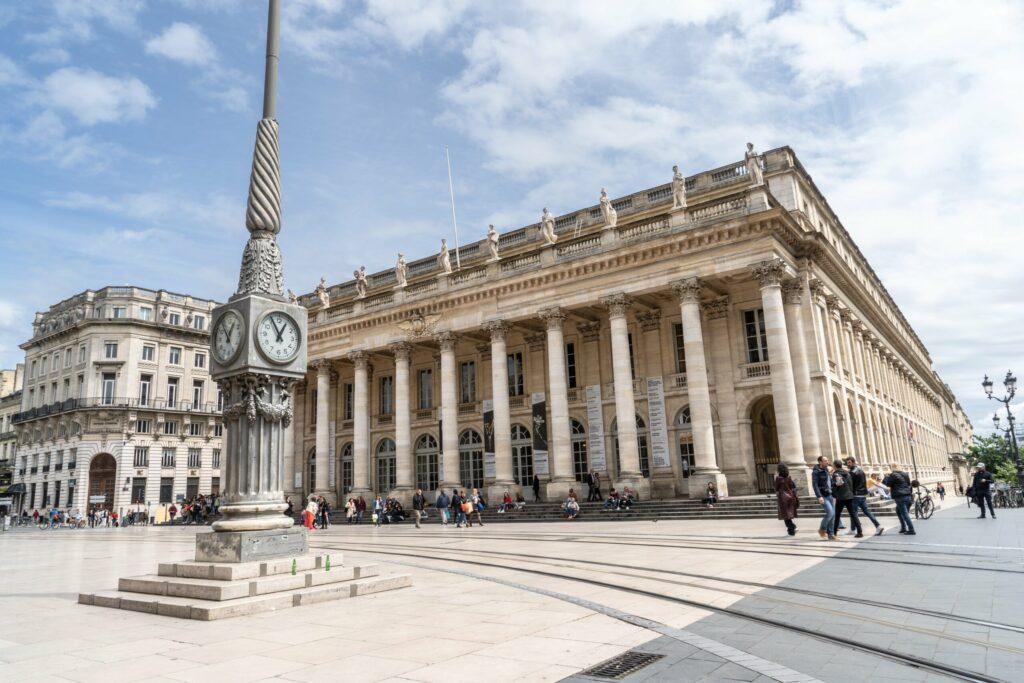 La place de la Comédie à Bordeaux