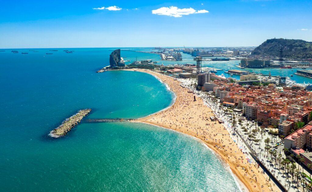 La plage de la Barceloneta