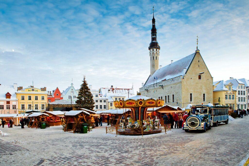 Le marché de noël à Tallinn