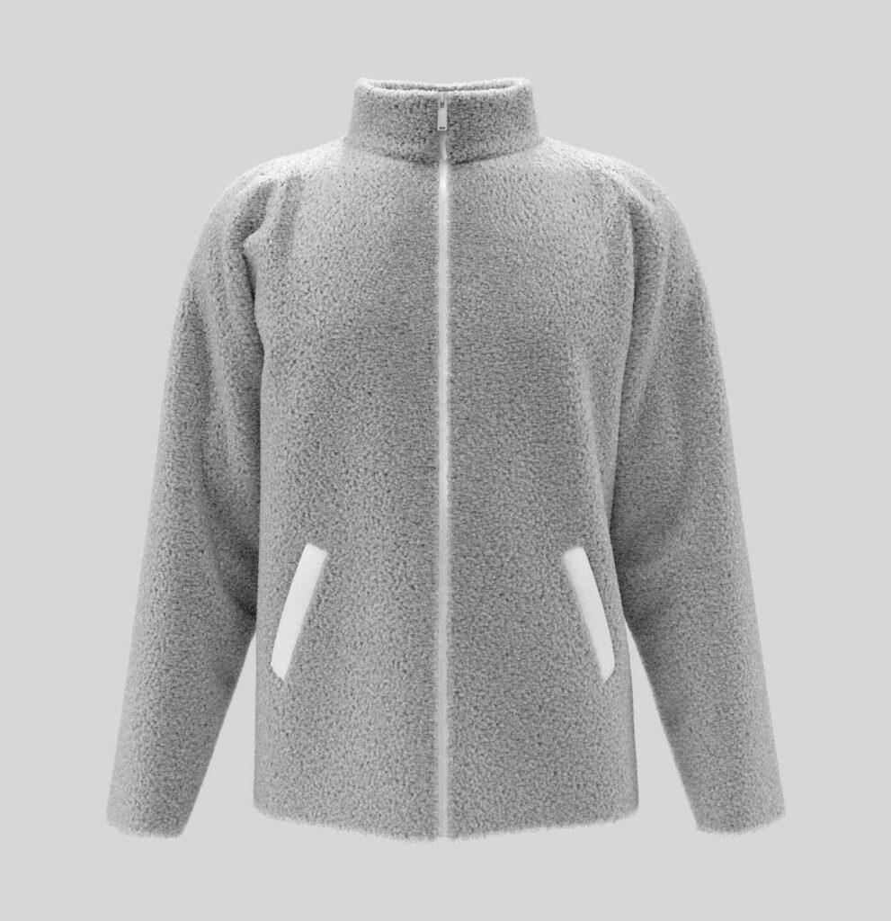 Veste polaire de couleur gris