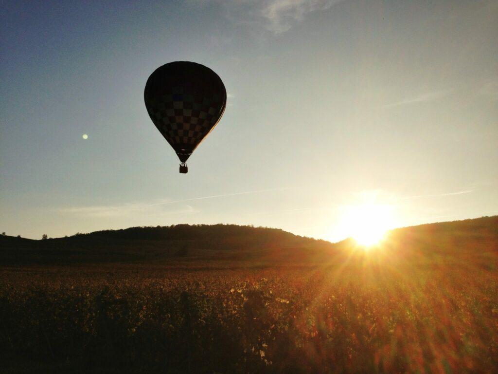 Voler en Montgolfière au dessus du Beaujolais