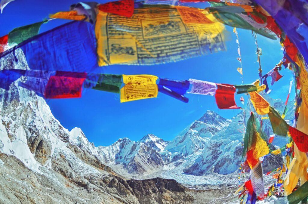 Vue sur l'Everest au Népal
